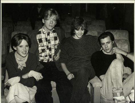 Molly Ringwald, Anthony Michael Hall, Ally Sheedy and Judd Nelson on Jan. 1, 1990.