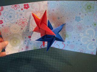 Origami Star Pop Up Card Origamistars Origami Stars Card Craft Origami