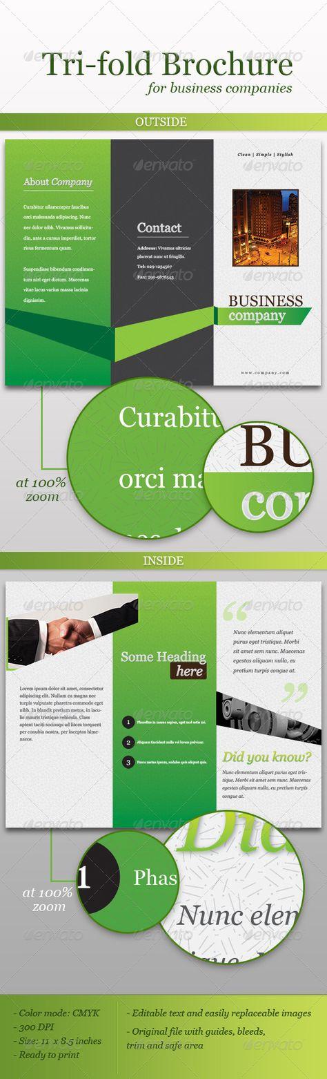 Corporate Event Planner \ Caterer Tri Fold Brochure design - event brochure template