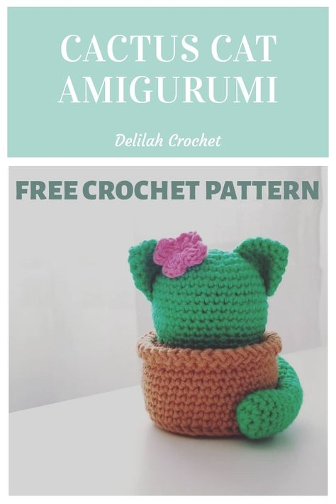 Crochet Cat Pattern, Crochet Animal Patterns, Crochet Patterns Amigurumi, Crochet Dolls, Cat Amigurumi, Kawaii Crochet, Crochet Gratis, Cute Crochet, Yarn Projects