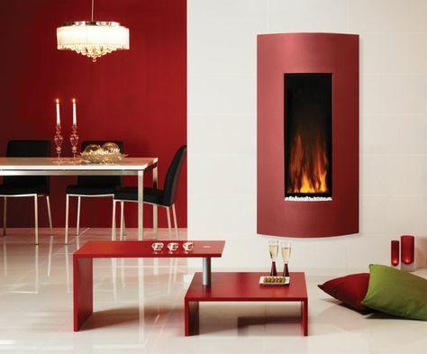innendesign wohnzimmer rustikaler couchtisch sessel kamin - wandgestaltung esszimmer