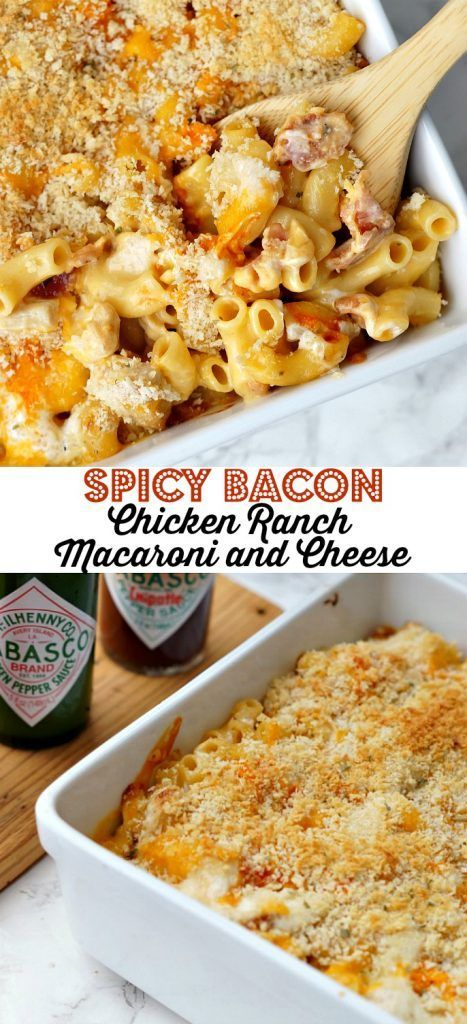 Spicy Bacon Chicken Ranch Macaroni And Cheese Recipe Chicken