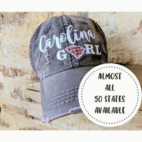 50 States Baseball Cap Hat State Birthday Gift Christmas Present Pride USA By DistinctHeadwear On