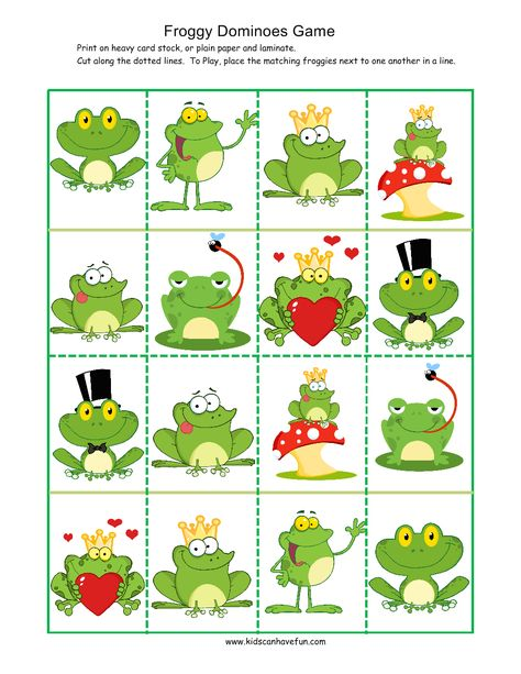 Froggy Dominoes Game