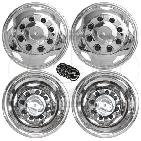 2011 2015 Gm Chevy 3500 Hd 17 8 Lugs Stainless Steel Dually Wheel Simulator With Hub Caps And Car Emblems Walmart Com In 2020 Car Emblem Hub Caps Dually Wheels