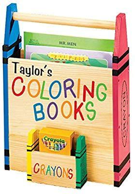 Amazon Com Personalized Coloring Book Caddy Coloring Book Organizer With Crayon Storage Custo Coloring Book Storage Personalized Coloring Book Crayon Storage