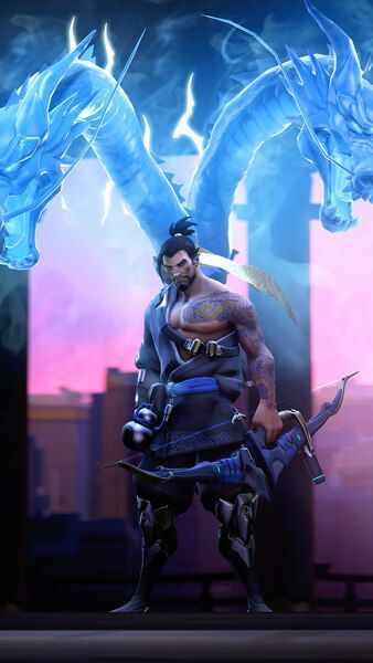 Hanzo Dragons Overwatch HD Mobile, Smartphone and PC, Desktop, Laptop wallpaper resolutions.