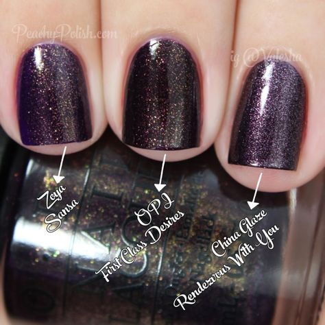 OPI: Comparisons - Holiday 2014 Gwen Stefani Collection - Peachy Polish