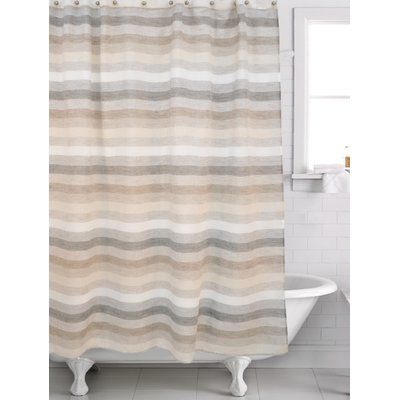 Ebern Designs Filler Horizon Shower Curtain Color Brown Beige