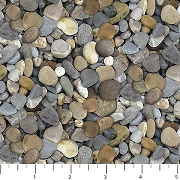 Landscape Fabric Naturescapes Rocks Fabric Northcott 21394 93 Pebble Fabric By The Yard Ston Landscaping With Rocks Landscape Fabric Backyard Landscaping