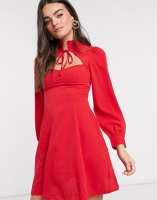 30+ Asos red high neck dress ideas