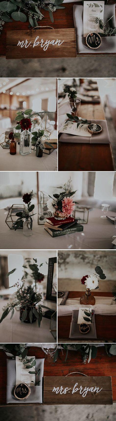 Minimalist + organic wedding reception table decor | Image by Fox and Owl Studio #weddingphotoinspiration #weddingphotoideas #reception #weddingreception #weddingreceptioninspo #receptioninspiration #receptiondecor #receptioninspo #finishingtouches #weddingdecor #tablescape #centerpieces