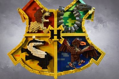 Lego Ideas Magical Builds Of The Wizarding World Hogwarts The Monster Book Of Monsters Lego Harry Potter Moc Harry Potter Lego Sets Lego Hogwarts