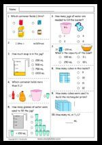 Reading a measuring scale to 1000mL, Mathematics skills ...