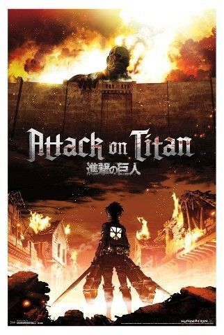 Attack On Titan Fire Poster 34x22 Trends International Attack On Titan Fire Poster 34 22 Trends International Gambar Anime Seni Anime Desain Karakter Game