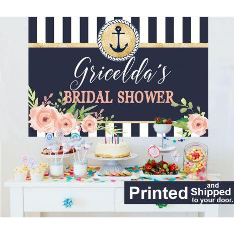 Nautical Bridal Shower Cake Table Backdrop Nautical Bridal Showers Bridal Shower Backdrop Cheap Bridal Shower Ideas