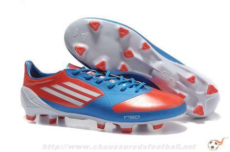 pretty nice 79fc3 94e40 Chaussure de foot f50 adizero pas cher TRX FG Messi Bleu Rouge FT9192