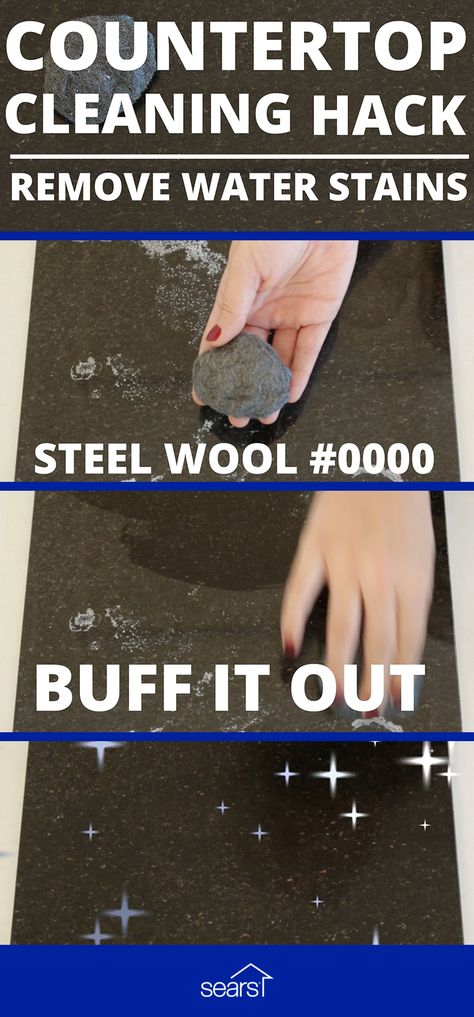 Remove Hard Water Stains And Rings From Quartz Using Steel Wool