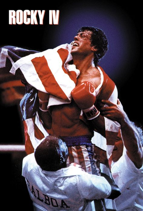 Rocky IV (1985) Sylvester Stallone movie poster reprint 19x12.5 inches