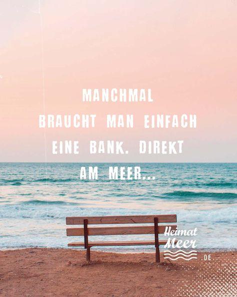 Bank am Meer... ❤️ Mee(h)r von Heimatmeer >>
