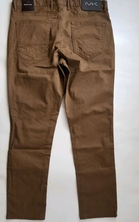 63d2c9566b459 Men s MICHAEL KORS Khaki Jean-Style Pants 32x30 NWT NEW Parker Slim Fit   fashion  clothing  shoes  accessories  mensclothing  pants (ebay link)