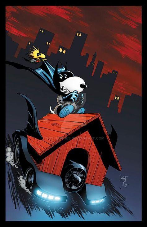 Bat-Snoopy RH by RossHughes on DeviantArt