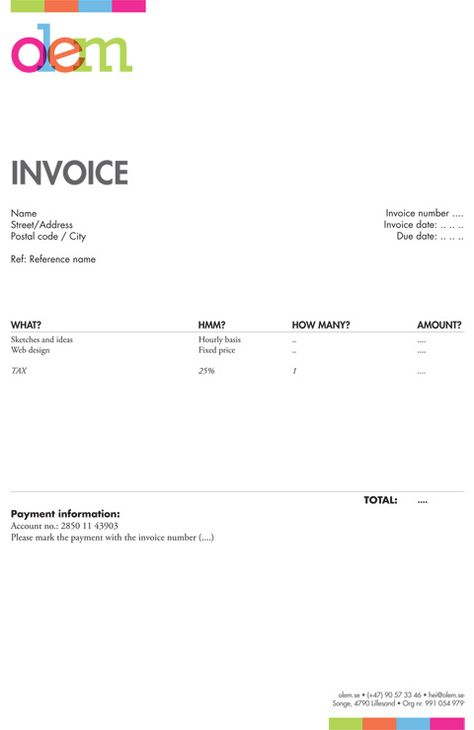 Invoice Like A Pro Design Examples And Best Practices Invoice