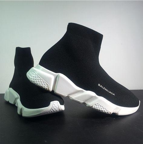 Balenciaga sock shoes white bottom