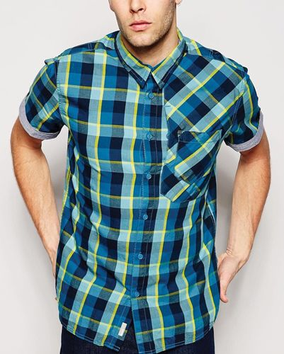 Sun Flux Blue Check Flannel Shirt Wholesale | Checked