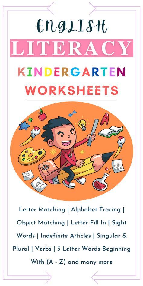 English Literacy Worksheets For Kindergarten