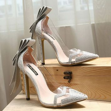 Shop The Latest Silver Bow Heels Products From Liva Girl Shoeyl