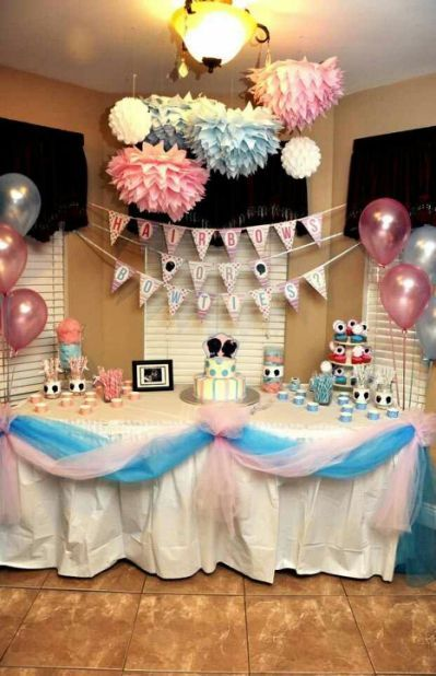 Party Decorating Ideas Pinterest Gender Reveal Decorations Gender Reveal Party Baby Reveal Party