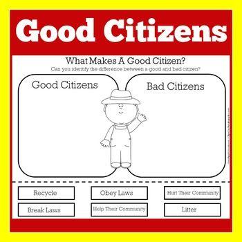Pin On Good Citizenship Activities Kinder First Grade
