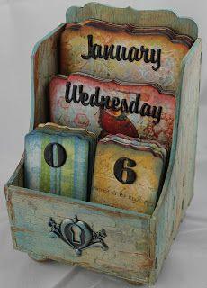 Perpetual Calendar  Decoupage    Perpetual Calendar