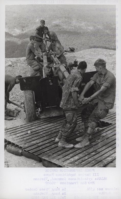 Marines Move a 105mm Howitzer, 1968