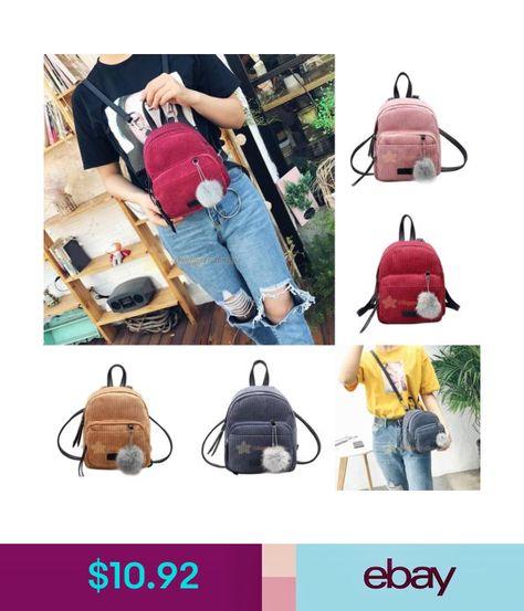 Fashion Women Mini Velvet Backpack Girl School Shoulder Bag Travel Rucksack Bags