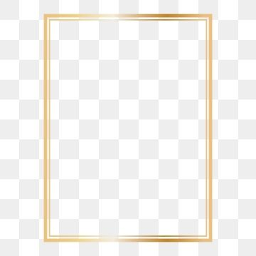 Rectangle Golden Frame Clipart Png Png And Vector Frame Border Design Frame Clipart Frame Template