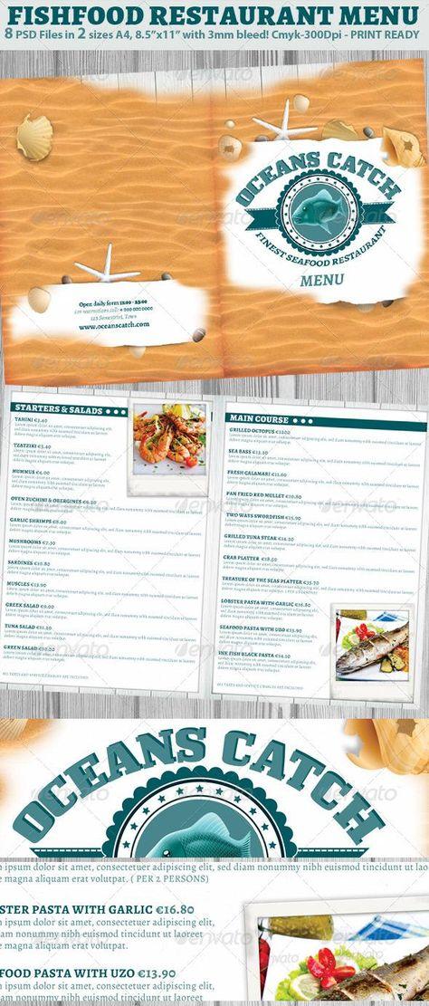 Italian Restaurant Menu Template by Hotpin on @creativemarket - italian menu
