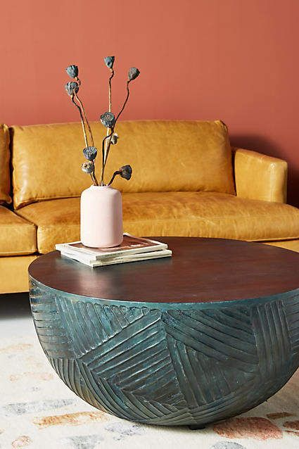 Ad Anthropologie Paje Coffee Table Handcarved From Tropical