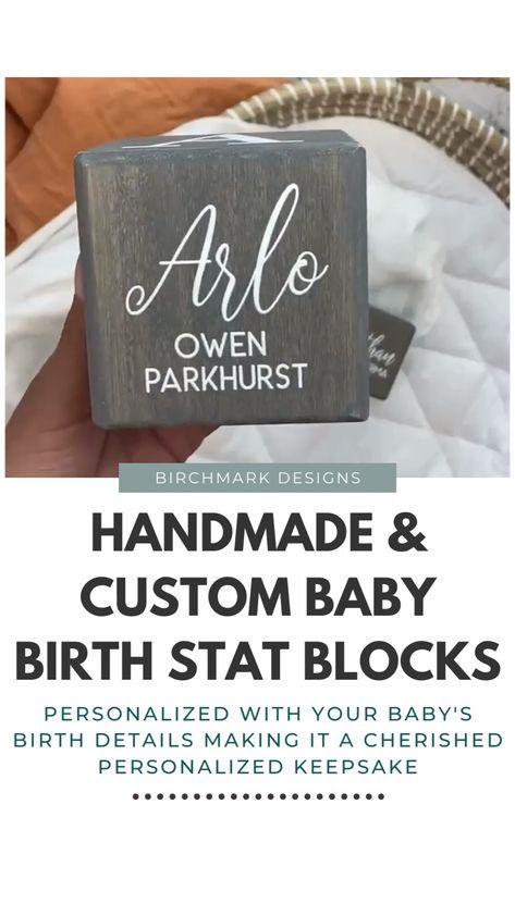 Handmade & Custom Baby Birth Stat Blocks