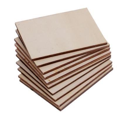 Details About 10pcs Rectangle Shape Craft Blank Wood Plaque Sign