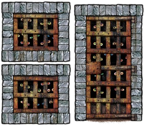 tempting 5 dungeon dweller props wall add ons creative collection of spooky horror wall scene kits for halloween at partybell