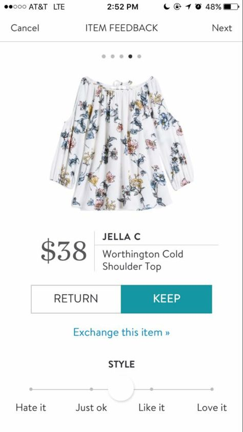 e6c54da518c492 Jella C Worthington Cold Shoulder Top  stitchfix  floral  coldshoulder