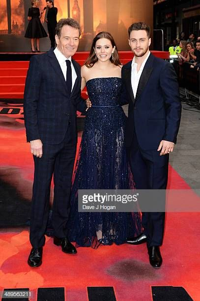 Bryan Cranston Elizabeth Olsen And Aaron Taylor Johnson Attend