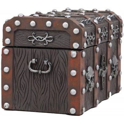 Longshore Tides Small Haunted Caribbean Pirate Skull With Crossbones Jewelry Box Antique Jewelry Box Pirate Skull Crossbones