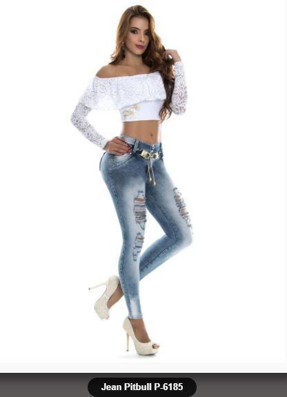Jeans Pitbull Marca De Moda Pantalones Levantacola Ajuste Perfecto Vaqueros Jeans Pushup Originales Originaldesing Colorazul Moda Jeans De Moda Ropa