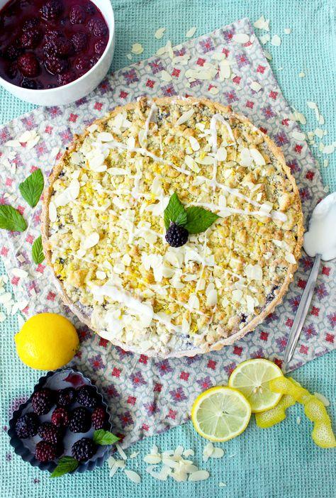 Tarte Crumble aux mûres et au citron