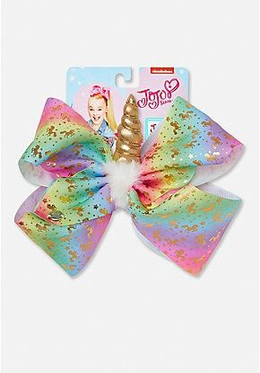 Justice is your one-stop-shop for on-trend styles in tween girls clothing & accessories. Shop our Justice Exclusive Unicorn Horn Jojo Siwa Bow.