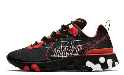 Details About Nike React Element 55 Black Size 10 Us Mens Athletic Running Shoes Sneakers In 2020 Running Shoes Nike Sb Shoes Running Shoes For Men
