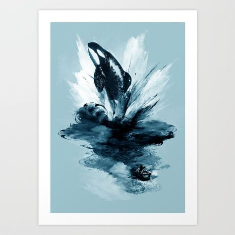 deep blue rising Art Print by Steven Toang. Worldwide shipping available at Society6.com. Just one of millions of high quality products available.